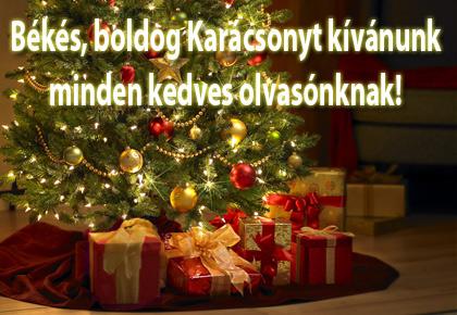 Békés, boldog Karácsonyt kívánunk, minden kedves olvasónknak!