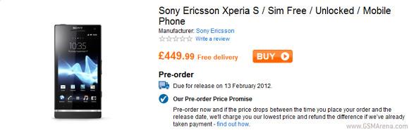 Késik a Sony Xperia S