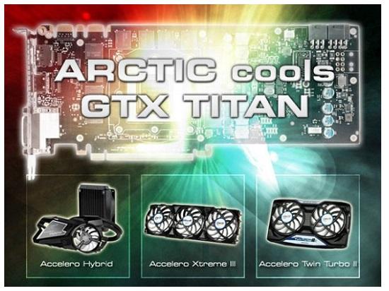 Három hűtőt kínál az Arctic a GeForce GTX Titánra