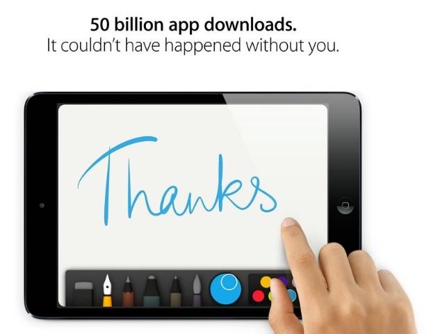 50 milliárd letöltés felett jár az App Store