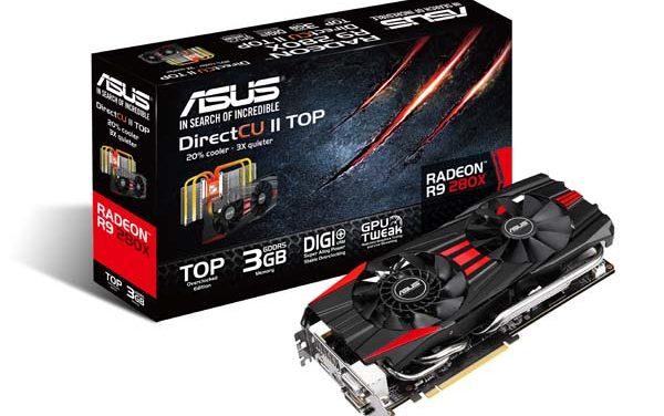 ASUS R9 200 és R7 200 sorozatú DirectCU II grafikus kártyák