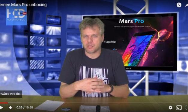 Elkészült a Vernee Mars Pro kicsomagolós videó