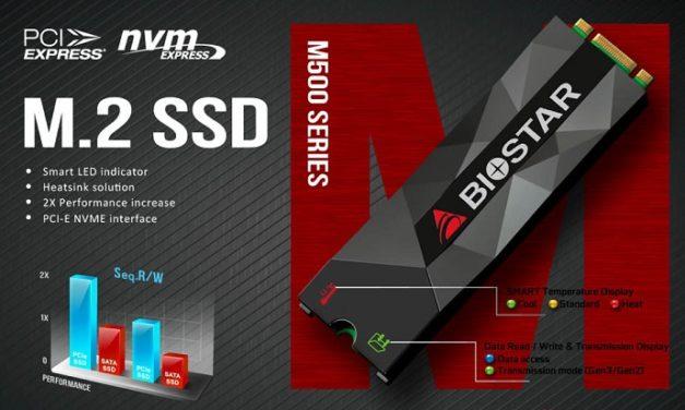 Jelezni fog a BIOSTAR NVMe SSD-je, ha meg akar sülni