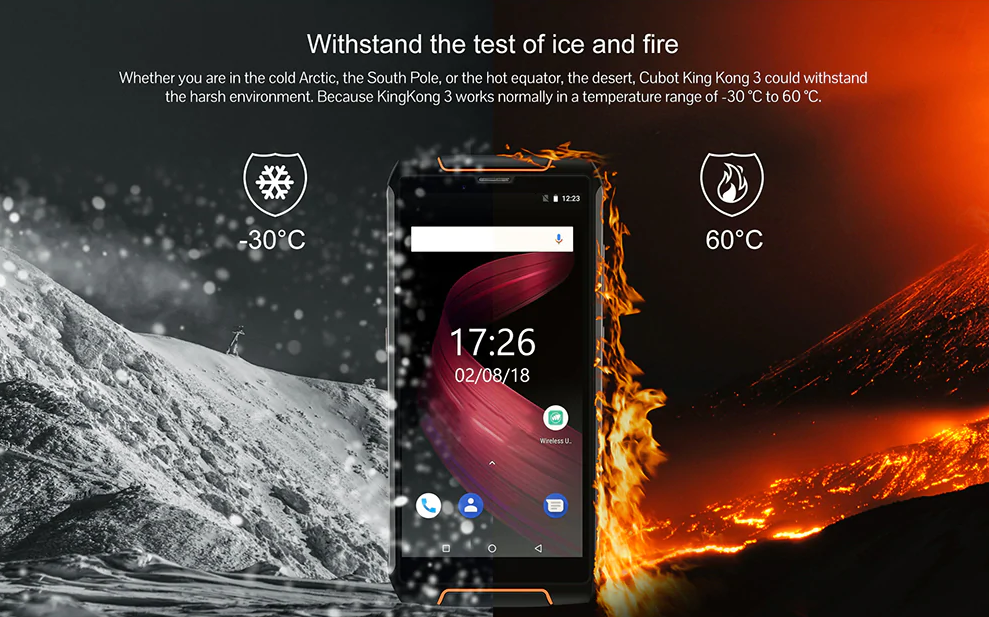 Vásárlás – A CUBOT King Kong 3 4G strapatelefon most csak 173,99 dollárért (kupon)