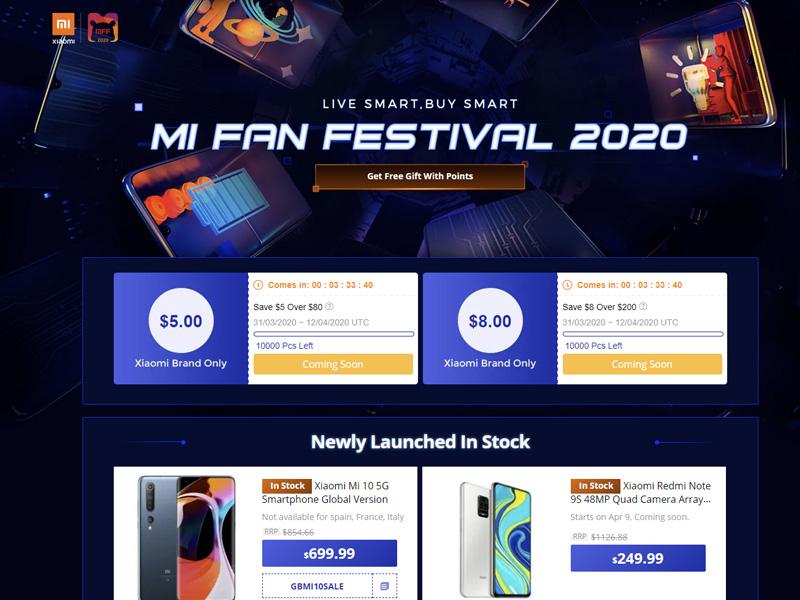 Xiaomi Mi Fan fesztivál a Gearbesten!