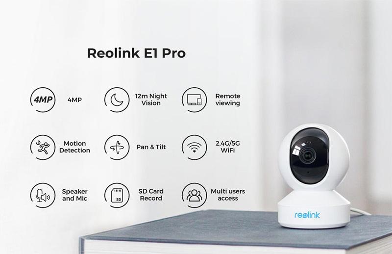 Reolink E1 Pro – 4K-s beltéri kamera gombokért 8