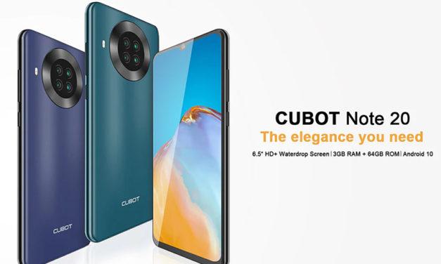 Cubot Note 20 bemutató – a költséghatékony telefon