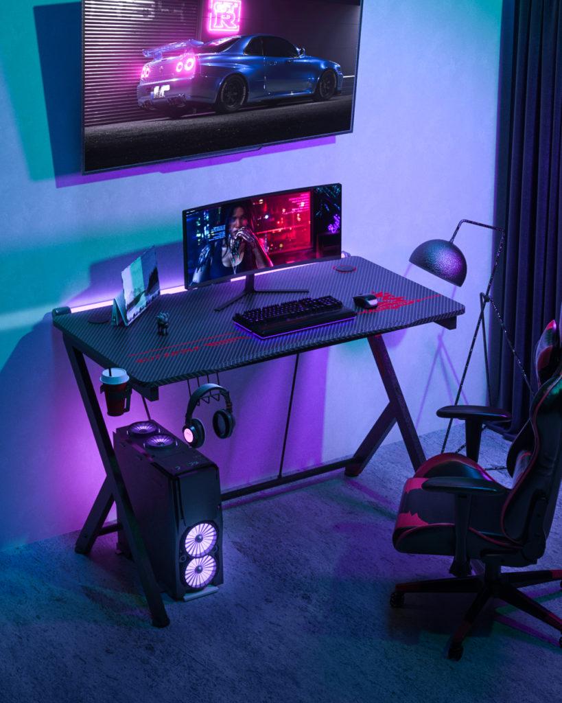 BlitzWolf BW-GD1 gamer asztal - eszetlenül jól néz ki, nevetségesen olcsón