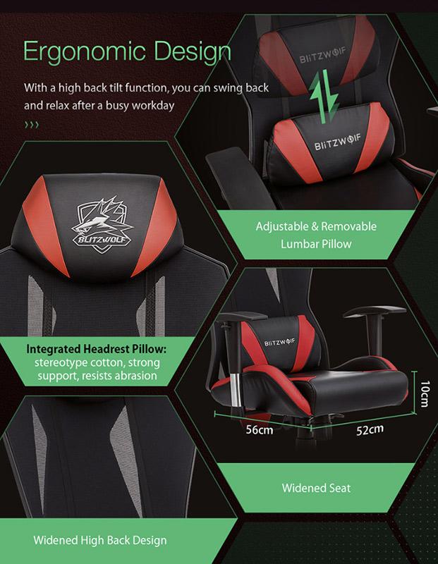 Blitzwolf GC6 – a gamer széknek álcázott kényelem 12