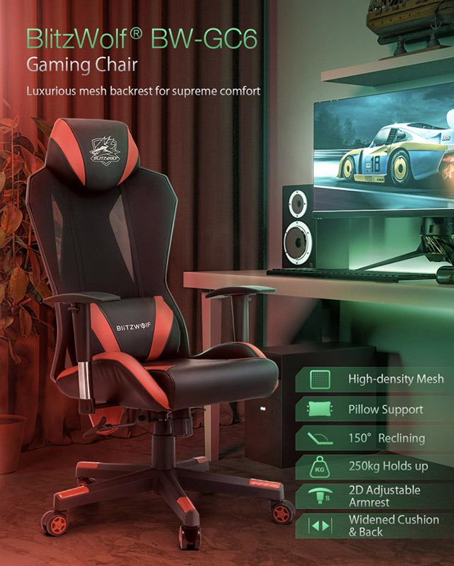 Blitzwolf GC6 – a gamer széknek álcázott kényelem 1