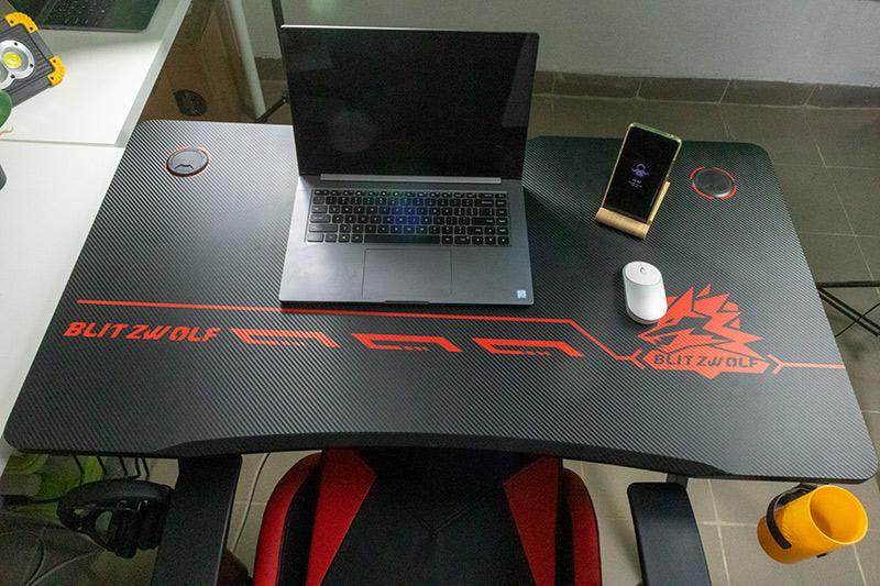 Blitzwolf BW-GD1 gamer asztal, a legtutibb karácsonyi ajándék 12