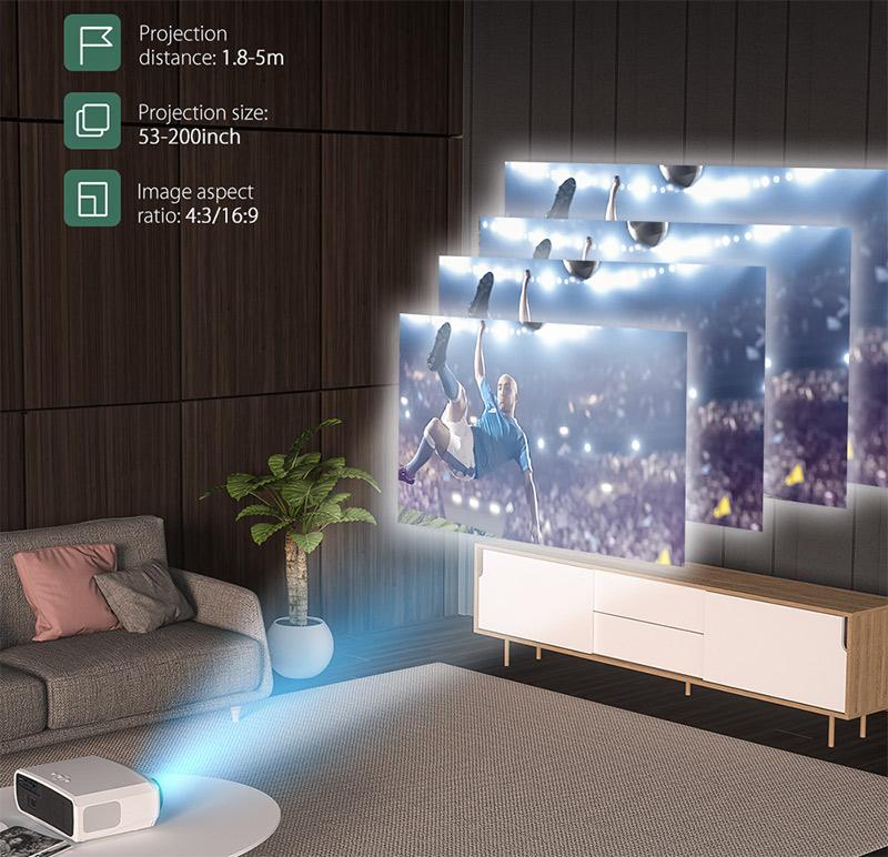 Blitzwolf BW-VP9 projektor teszt – vigyél haza egy mozit! 5